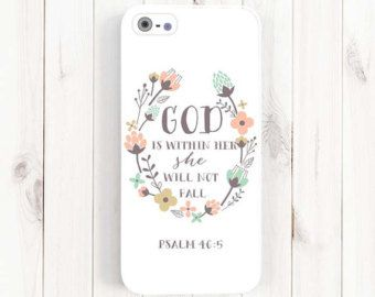 Bible Verse Quote iPhone 6 6s 5s 5c 5 Case by theSugarloafBoutique