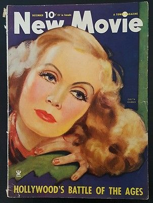 New Movie Magazine December, 1934 Greta Garbo Katherine Hepburn Sylvia Sidney