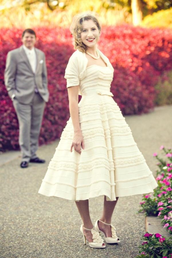 265 best images about tea length short wedding dresses for Melissa sweet short wedding dress