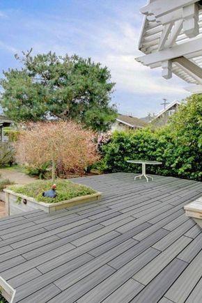 WPC-Terrasse selber verlegen mit dem easy-klick System von planeo. #terrace #terrasse
