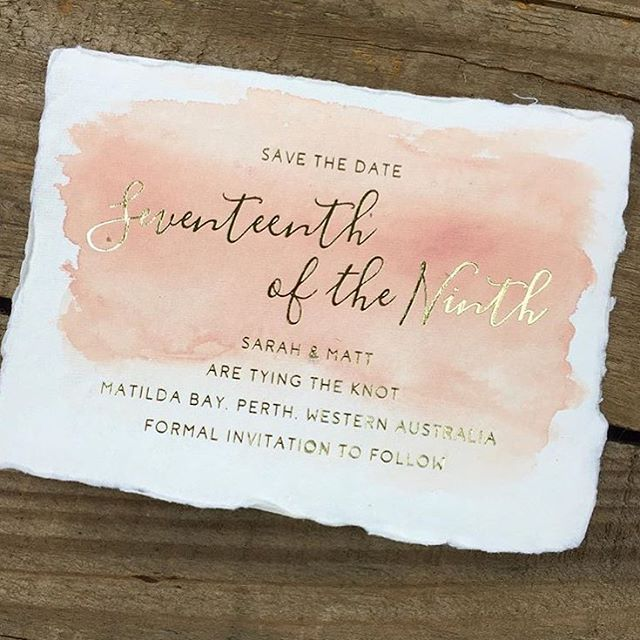One of my paper suppliers @peterkinpaper now stocks this amazing deckled edge cotton tag paper ✨ it's beyond amazing and I can't wait to trial it!! Who wants invites like this? #watercolourinvitations #handmadepaper #weddinginvitationsaustralia