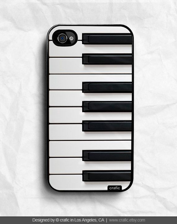 Piano Keyboard iPhone Hard Case / Fits iPhone 4, 4s. $16.99, via Etsy.