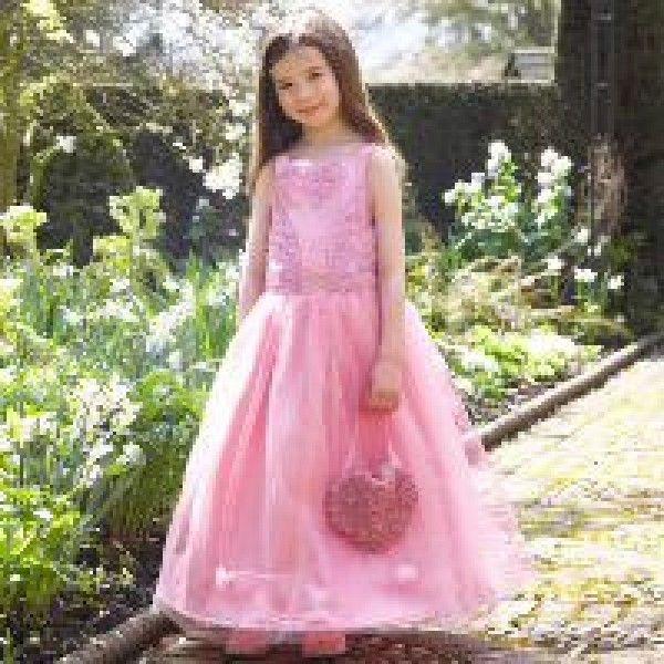 Floral Pink Occasion Dress #childrens #kids #little #girls #bridesmaids #dresses