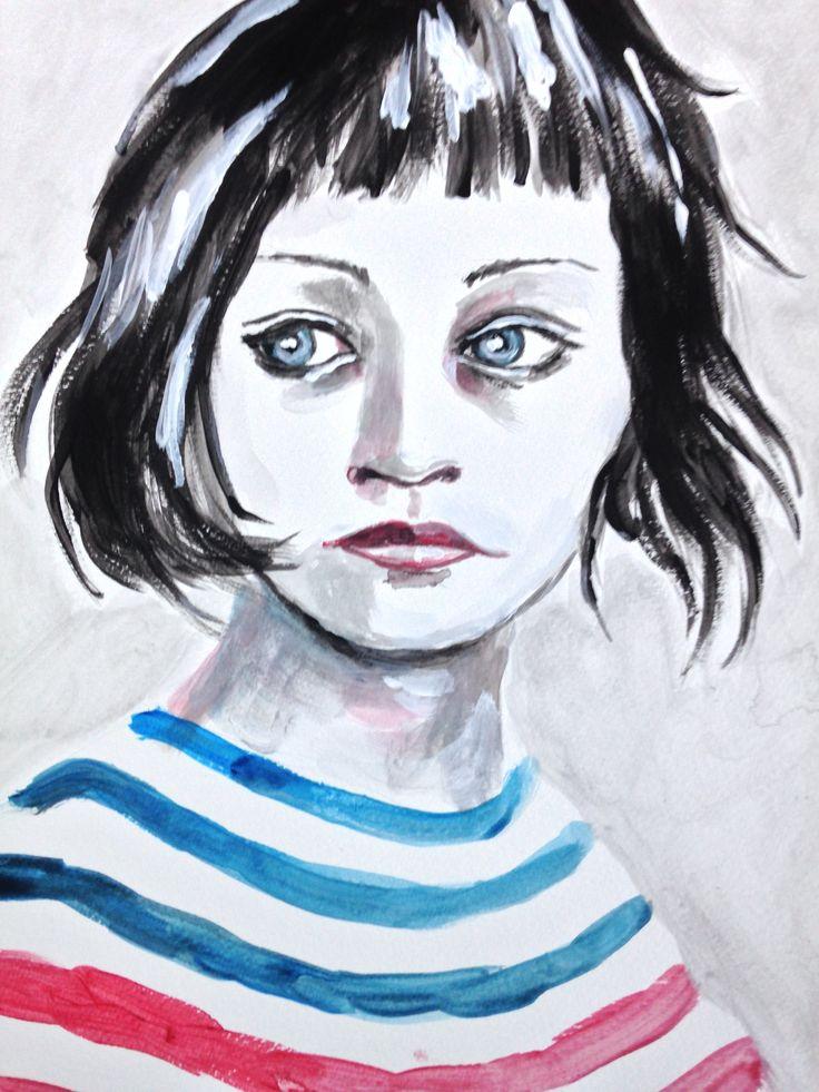 aquarel meisje