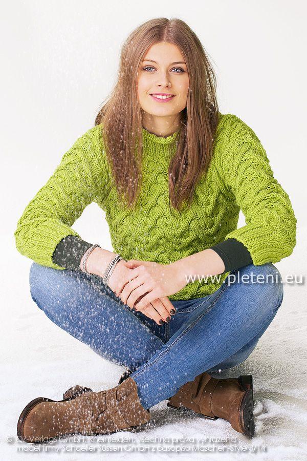 dámský ručně pletený svetr z příze Cosima