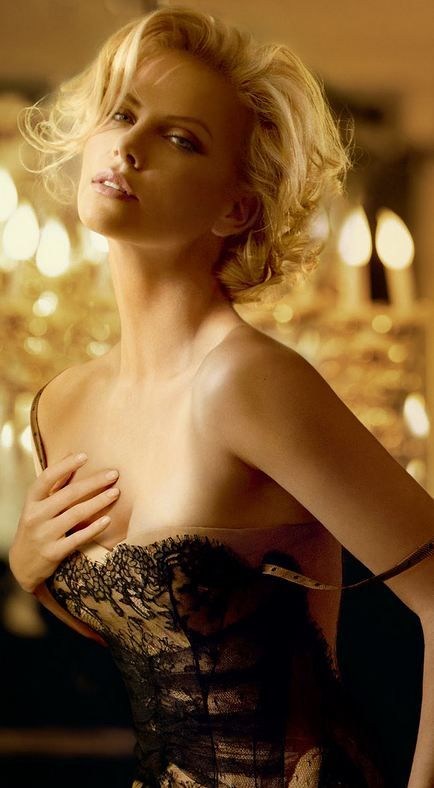 Charlize Theron | We love Celebrities in Corsets! --> http://www.pinterest.com/thevioletvixen/celebrities-in-corsets/