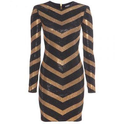 Balmain - Embellished jersey dress #dress #balmain #offduty #women #covetme