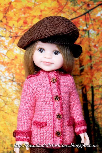 KasatkaDollsFashions: Вязание для кукол Паола Рейна: брючный костюм