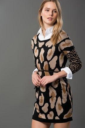Milla by trendyol - Büyük Sezon İndirimi - Sarı Siyah Beyaz Tunik MLWAW16HC0271 %57 indirimle 29,99TL ile Trendyol da