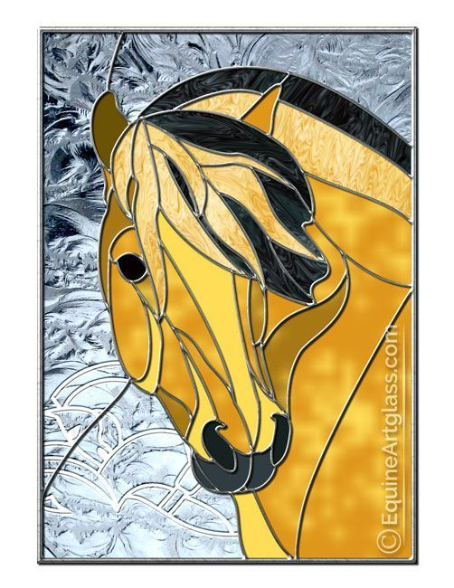 NEW! Patterns | Equine Artglass This pattern is currently waiting for purchase. Custom stained glass horses and patterns for purchase are found at EquineArtglass.com or on Pinterest at my Equine Artglass board. #StainedGlassHorse