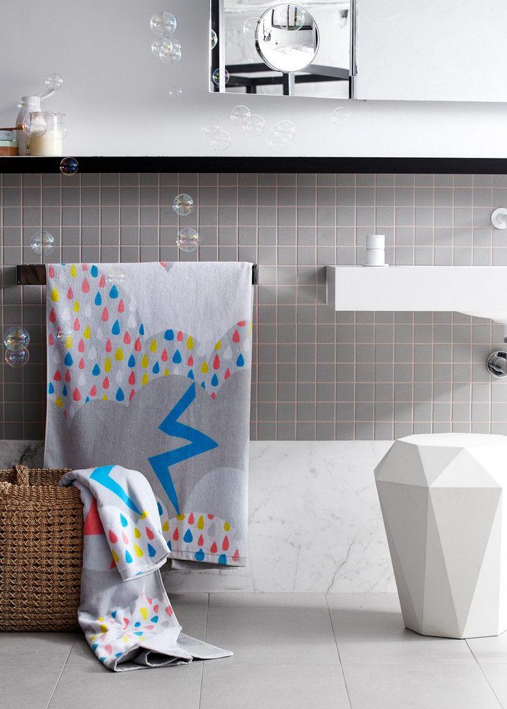 Così Rainbow Rain Children's Bath Sheet