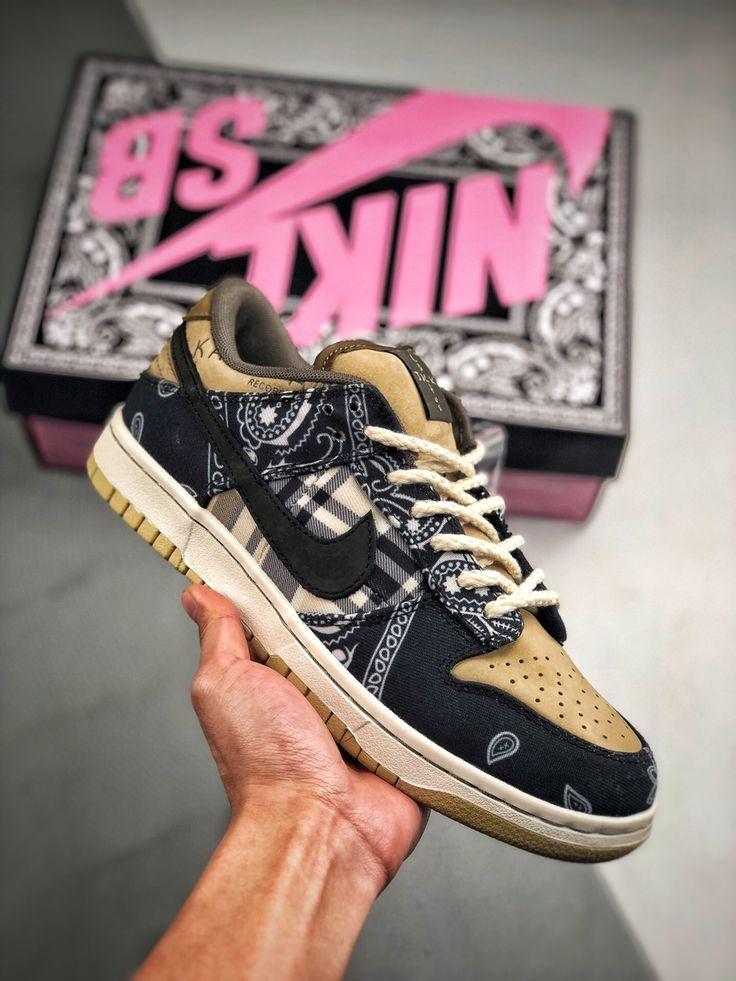 "Travis Scott × Nike SB Dunk ""Cactus Jack"" Nike air shoes"