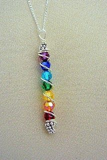 Chakra PendantChakra Pendants, Chakra Jewelry, Rainbows Pendants, Families Birthstone, Beads Colours, Necklaces Inspiration, Chakra Necklaces, Wire Jewelry Diy Beads, Mothers Necklaces