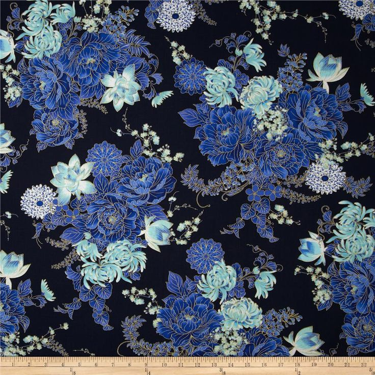 Black Flower Fabric Timeless Treasures Tree Of Life: 357 Best Images About Fabric On Pinterest