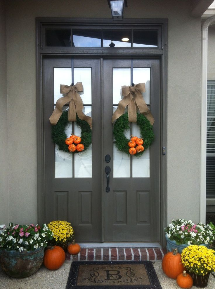 Best 25 Double Door Wreaths Ideas On Pinterest Wood