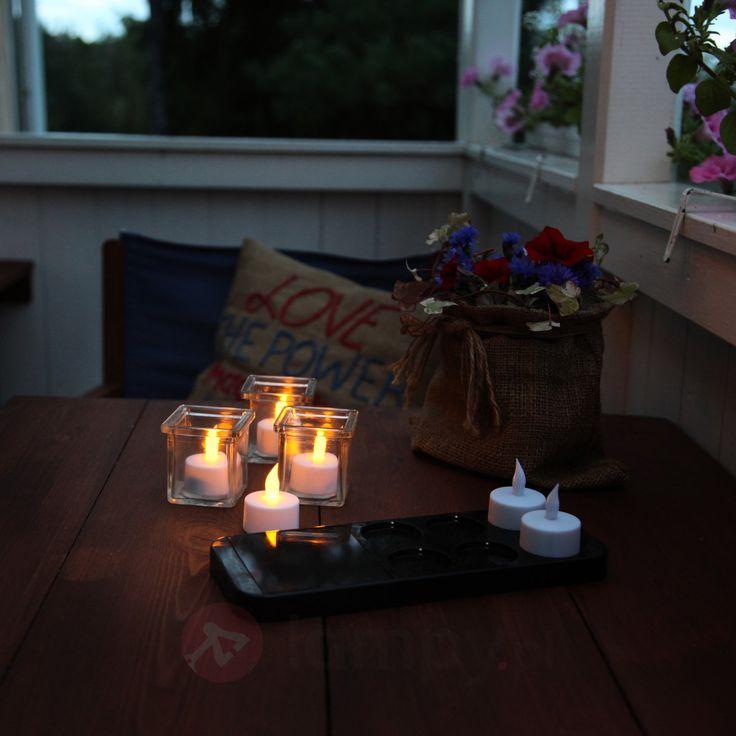 Świeczka LED typu tealight z solarną ład., 6 szt. 1522995