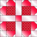 """Pieced Hearts Block - free 12"""" quilt block pattern from McCall's Quilting, one of our sister publications."""