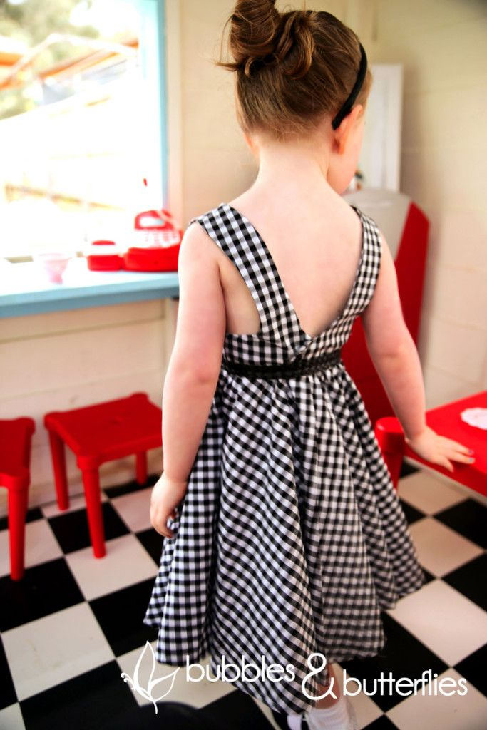 Tadah Tea party dress with scoop back