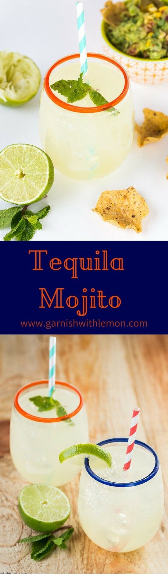 Tequila Mojito Recipe- A Tequila Mojito is a refreshing cocktail for summer that combines the best of margaritas and mojitos!