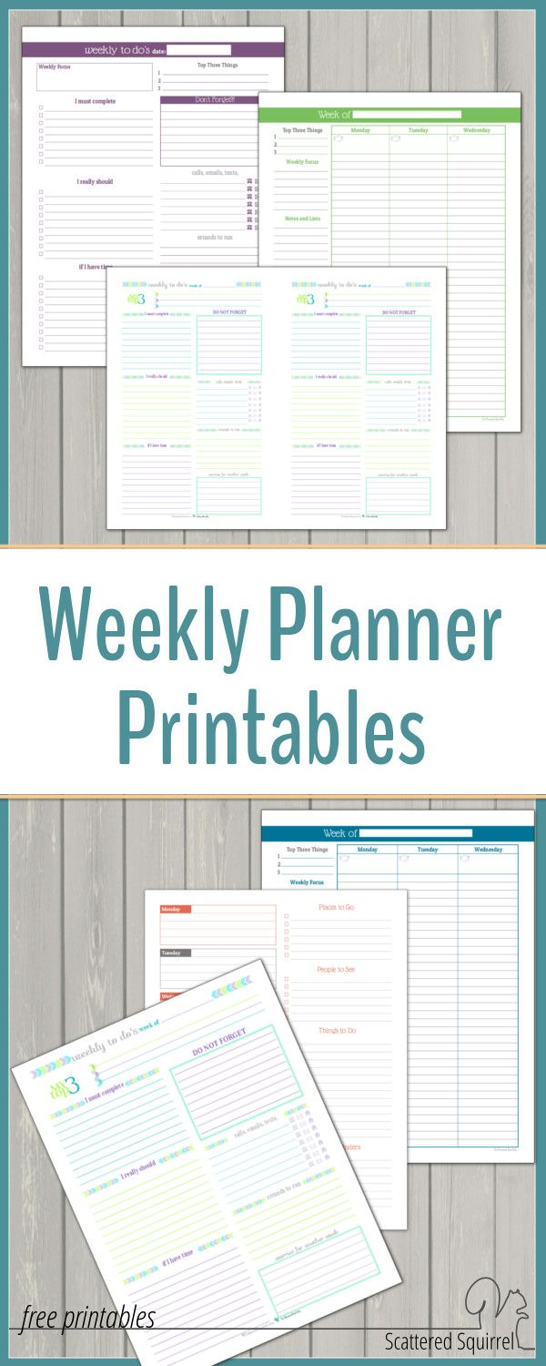 I love being able to see my whole week at a time. Weekly planner printables are…