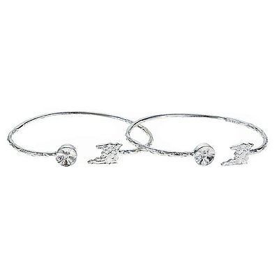 Bracelets 98509: Map Of Trinidad + Drum Ends West Indian Bangles .925 Sterling Silver (Pair) BUY IT NOW ONLY: $65.0