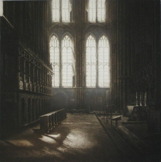 Anja Percival, Cathedral Light IV, Etching, 2010, 40 x 40 cm, Edition: 75