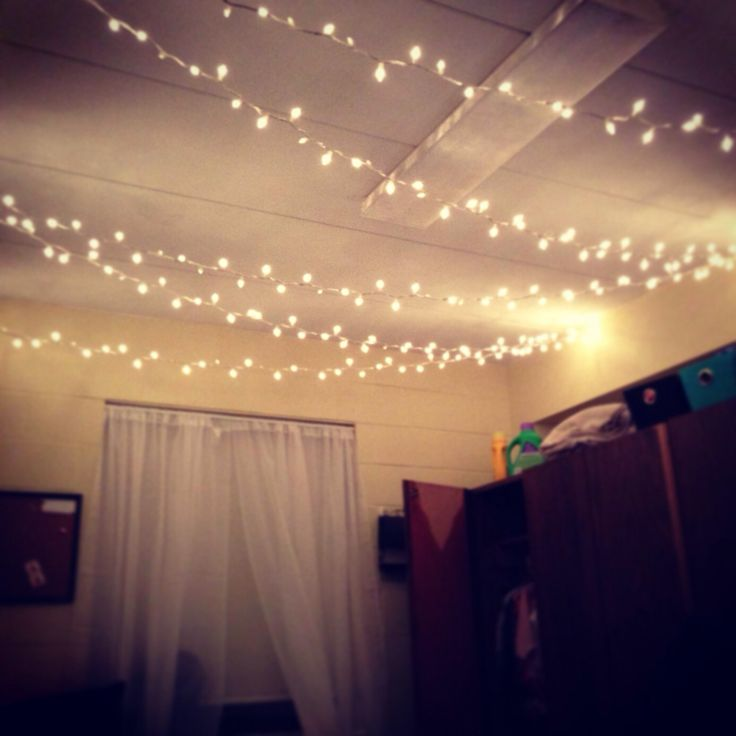 I've had the whole Christmas lights in my room idea in my head for a while now.