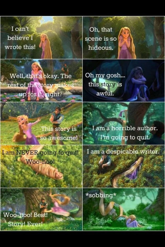 The Tangled writing method via @acshawYA | Disney | author problems