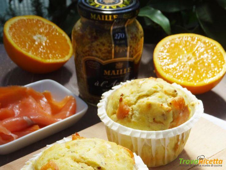 Muffins salmone, arancia e senape all'antica  #ricette #food #recipes