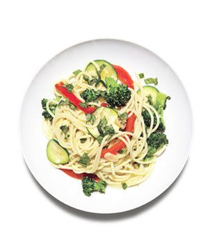 Spaghetti Primavera With Basil | Stuck in a pasta rut? Give one of these delicious, out-of-the-ordinary spaghetti dishes a twirl.