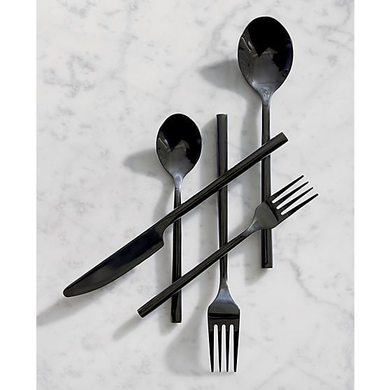 Modern flatware. From chopsticks to cheese cutters, cocktail forks to complete stainless steel flatware sets, CB2 offers the perfect way to eat sleek.