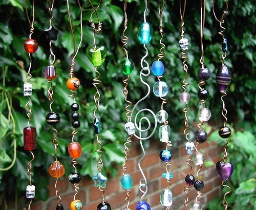 beaded suncatchers ideas - Google Search: Beaded Suncatchers, Garden Art, Windchimes, Glass Beads, Craft Ideas, Sun Catchers
