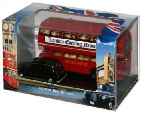 Scenery and Trees 180318: Oxford Diecast Ld004 London Bus Taxi Set -> BUY IT NOW ONLY: $41.28 on eBay!