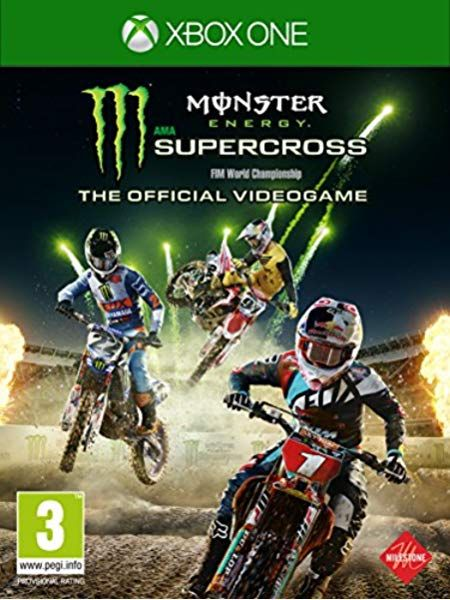 Monster Energy Supercross The Official Video Game 2 Xbox One Amazon Co Uk Pc Video Games In 2020 Monster Energy Supercross Monster Energy Supercross