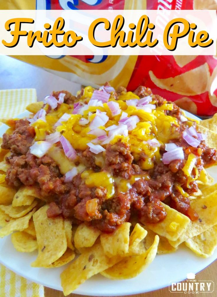 Frito chili pie recipe from the country cook casseroles for One dish wonders recipes