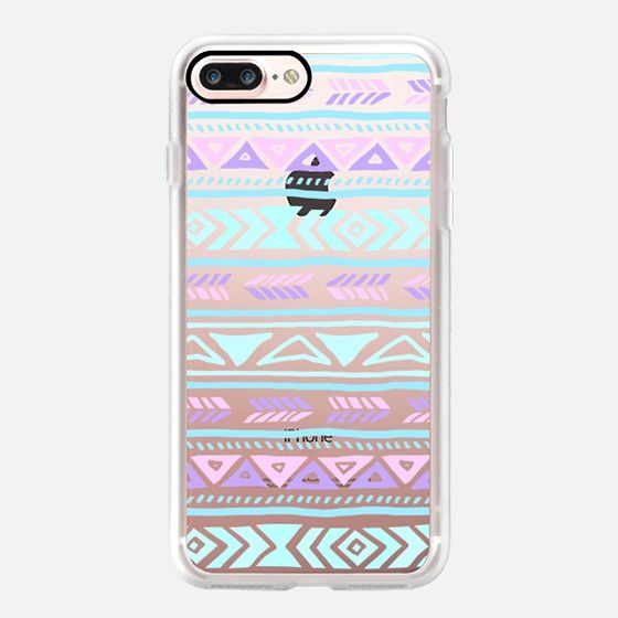 Casetify iPhone 7 Plus Case and other Pastel iPhone Covers - Pastel Tribals by Sara Eshak | Casetify