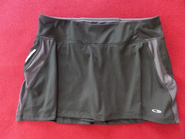 C9 by Champion Womens Sports Athletic Skirt Skort Black & Gray size M #C9byChampion #SkirtsSkortsDresses