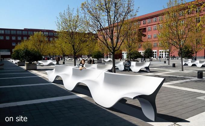 AECCafe.com - ArchShowcase - Fusillo: Social seating for public space by Marco Goffi (designed using Rhino)