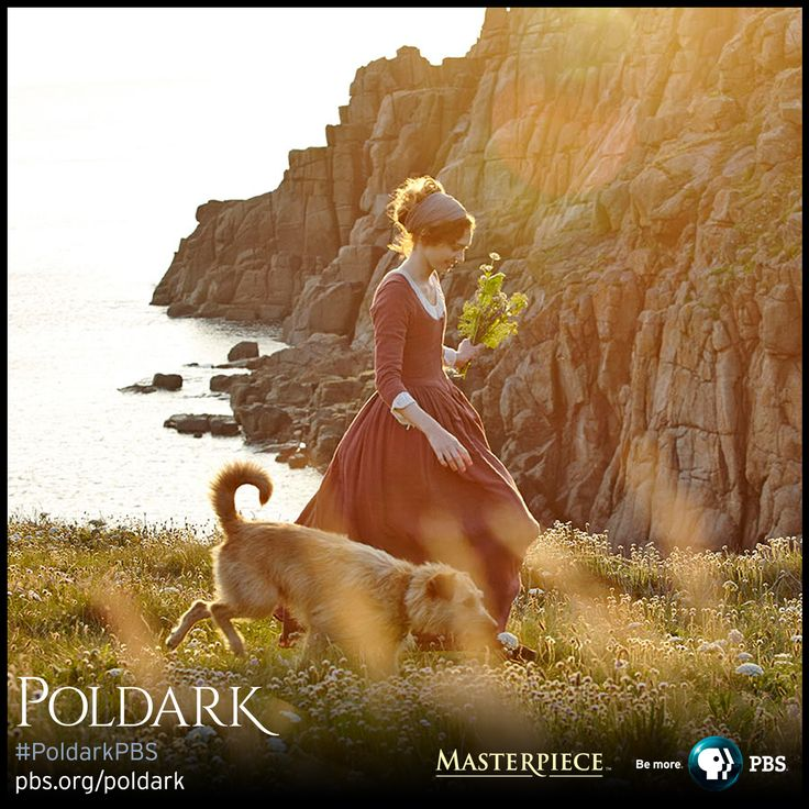 Eleanor Tomlinson as Demelza in wedding dress, made from silk dyed multiple times to get the right color and depth. | Poldark, as seen on Masterpiece PBS