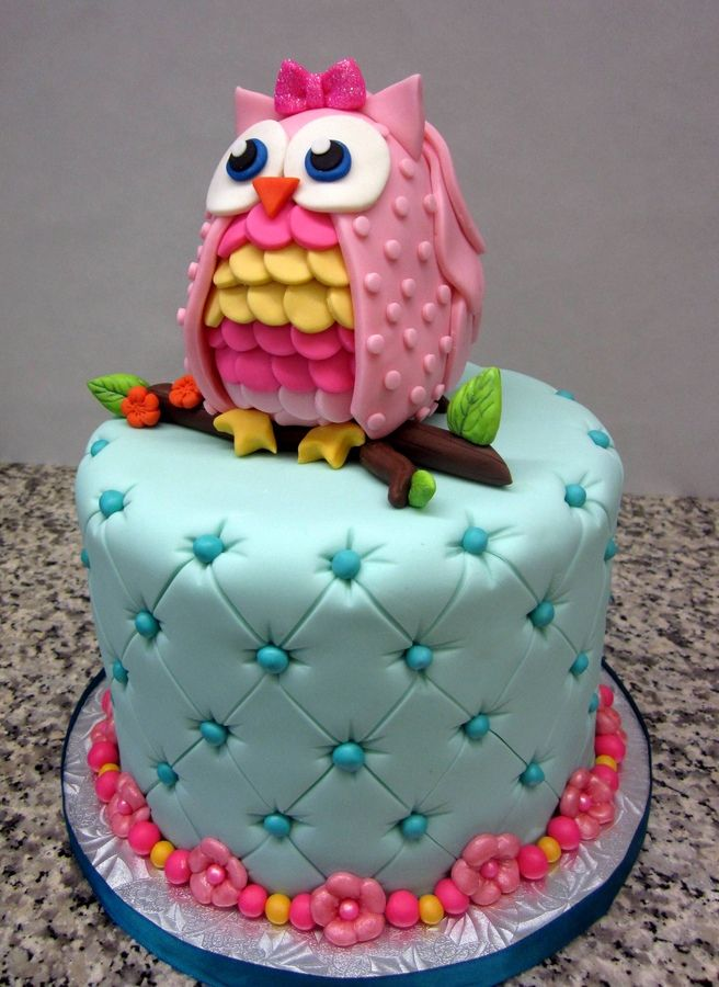 Owl Cake Owl Cake — Children's Birthday Cakes party Girl Boys Kid Kids Can I have this cake for my 15th birthday?