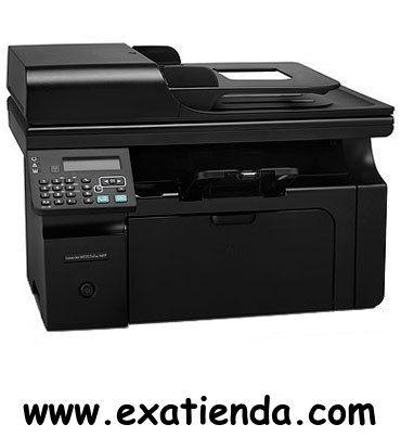 Ya disponible Multif. HP laserjet m1217nfw    (por sólo 234.95 € IVA incluído):   -Tipo de dispositivo:Impresora, copia, escáner, fax -Tecnología:Láser monocromo -IMPRESORA -Velocidad de impresión:Hasta 18 ppm -Tipos de papel: A4 A5 ISO B5 ISO C5 ISO C5/6 ISO C6 ISO DL 16K Tarjeta europea -Capacidad de la bandeja de salida:100 hojas -Display:SI -ESCANER: -Resolución:Hasta 1200 ppp -FAX:SI -Conexión PC:1 puerto USB 2.0 de alta velocidad, 1 puerto de red Ethernet 10/