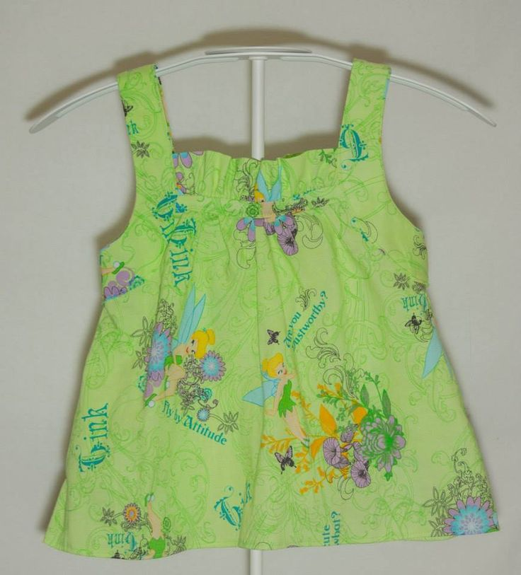 Handmade by ChaCheCreations Girls sleeveless top- Size 0