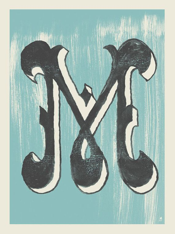 Letter M by methanestudios on Etsy, $10.00