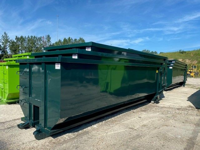 Thirty Yard Tub Style Dumpster American Made Dumpsters In 2020 Dumpsters Dumpster Yard