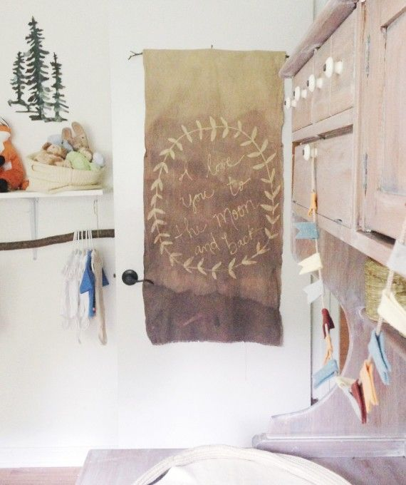 diy wax resist dip dyed wall hangings
