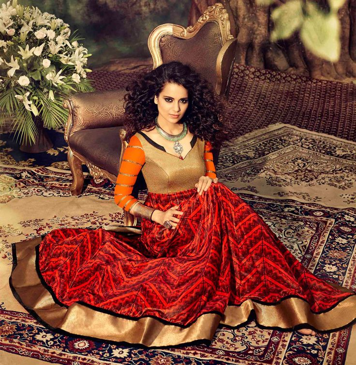 #chaniya #choli for #navratri #Kangana #brown #red #design
