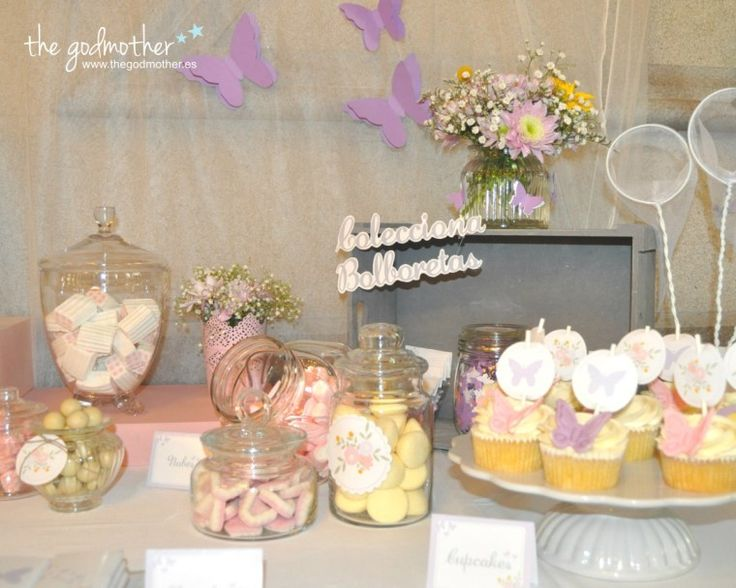 Mesa dulce mariposas butterfly candy table candy bar - Decoracion de bodegas y merenderos ...