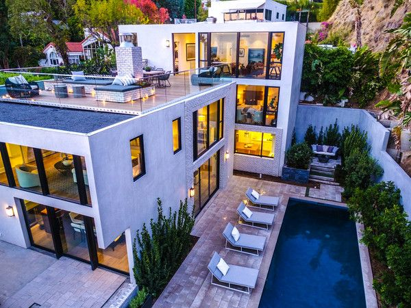 See Emily Blunt and John Krasinski's Chic Hollywood Hills Home that they just listed for $8 million.