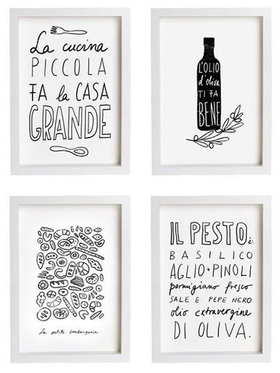 Simplicity kitchen art. i could totally make these
