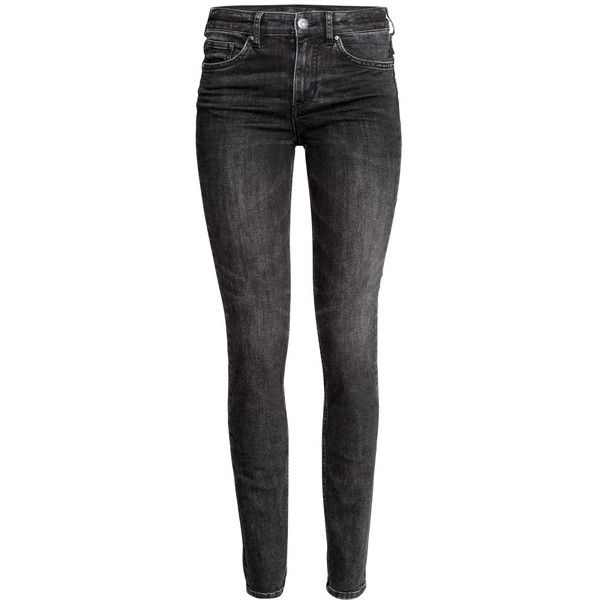 H&M Slim Regular Jeans (51 CAD) ❤ liked on Polyvore featuring jeans, pants, trousers, dark grey, h&m, slim leg jeans, slim jeans, slim fit jeans and slim cut jeans